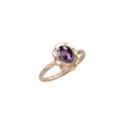 Girl's Birthstone Rings - 10K Yellow Gold Girls Synthetic Amethyst Birthstone Ring - Size 5 1/2 - Perfect for Grade School Girls, Tweens, or Teens - BEST SELLER - LAST ONE