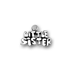 Little Sister Charm - Sterling Silver/