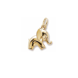 Rembrandt 14K Yellow Gold Elephant Charm – Add to a bracelet or necklace/
