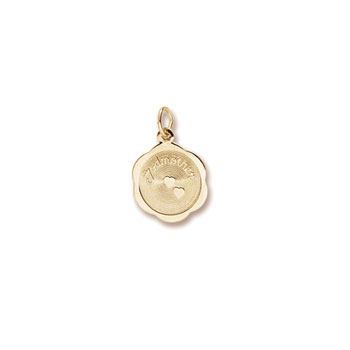 Rembrandt 14K Yellow Gold Godmother Charm – Engravable on back - Add to a bracelet or necklace