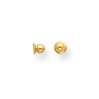 14K Yellow Gold Threaded Ear Nut / Screw Back - One (1)