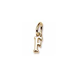 Rembrandt 14K Yellow Gold TIny Initial F Charm – Add to a bracelet or necklace/
