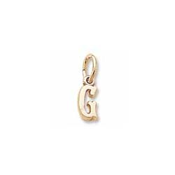 Rembrandt 14K Yellow Gold Tiny Initial G Charm – Add to a bracelet or necklace/