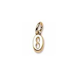 Rembrandt 14K Yellow Gold Tiny Initial O Charm – Add to a bracelet or necklace/