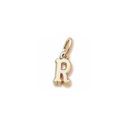 Rembrandt 14K Yellow Gold Tiny Initial R Charm – Add to a bracelet or necklace - BEST SELLER/