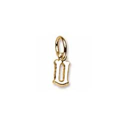 Rembrandt 14K Yellow Gold Tiny Initial U Charm – Add to a bracelet or necklace/