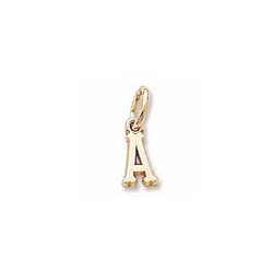 Rembrandt 10K Yellow Gold Tiny Initial A Charm – Add to a bracelet or necklace/