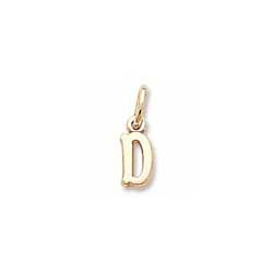 Rembrandt 10K Yellow Gold Tiny Initial D Charm – Add to a bracelet or necklace/