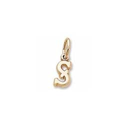 Rembrandt 10K Yellow Gold Tiny Initial S Charm – Add to a bracelet or necklace/