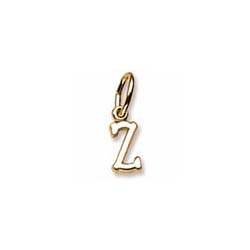 Rembrandt 10K Yellow Gold Tiny Initial Z Charm – Add to a bracelet or necklace/