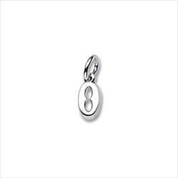 Rembrandt 14K White Gold Tiny Initial O Charm – Add to a bracelet or necklace/
