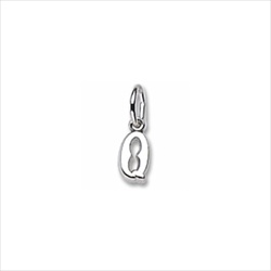 Rembrandt 14K White Gold Tiny Initial Q Charm – Add to a bracelet or necklace/