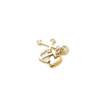 Rembrandt 10K Yellow Gold Faith, Hope, and Charity Charm (Medium - Three Pieces) – Add to a bracelet or necklace