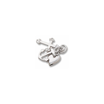 Rembrandt 14K White Gold Faith, Hope, and Charity Charm (Medium - Three Pieces) – Add to a bracelet or necklace
