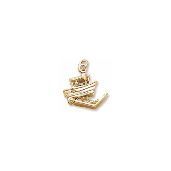 Rembrandt 14K Yellow Gold Noah's Ark Charm – Add to a bracelet or necklace