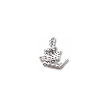 Rembrandt 14K White Gold Noah's Ark Charm – Add to a bracelet or necklace