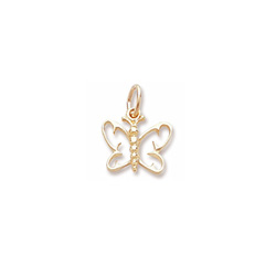 Rembrandt 14K Yellow Gold Small Butterfly Charm – Add to a bracelet or necklace/