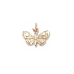 Rembrandt 14K Yellow Gold Butterfly Charm – Add to a bracelet or necklace/