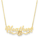 Disney Belle 14K Yellow Gold Name Necklace - Nameplate and 14