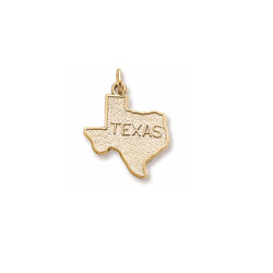 Rembrandt 14K Yellow Gold Texas State Charm – Engravable on back - Add to a bracelet or necklace/