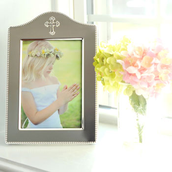 "Moments Captured™ - Tarnish-Resistant Sterling Silver-Plated Engravable Rectangular Picture Frame - 5"" x 7"" - BEST SELLER"