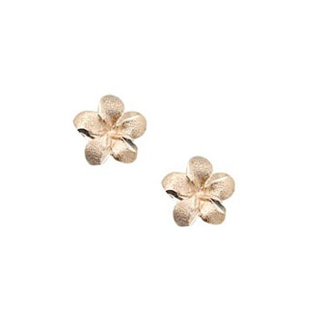 Girls Elegant Flower Girl Keepsakes™ - 14K Yellow Gold Screw Back Flower Earrings for Babies & Toddlers - Safety threaded screw back post