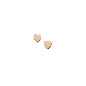 Tiny Gold Heart Earrings for Girls - 14K Yellow Gold Screw Back Earrings for Baby, Toddler, Child - BEST SELLER