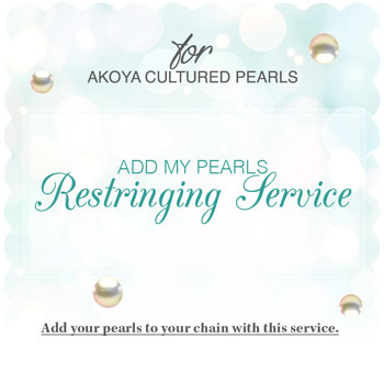 Add My Pearls Restringing Service by Create-A-Pearl® - Akoya Cultured Pearls