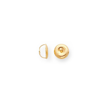 14K Yellow Gold Threaded Screw-Back Earring Back / Nut - One (1)
