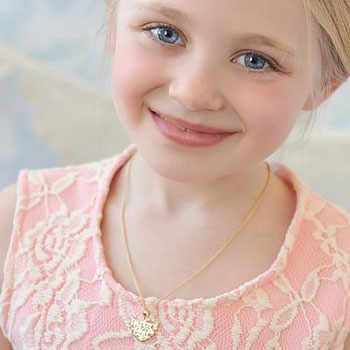 Daddy's Little Girl Pendant - 14K Yellow Gold - Chain included - BEST SELLER