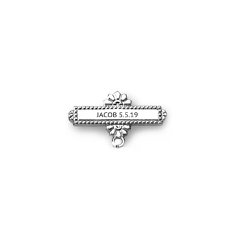 You Design it!  We Create It!® Custom Baptismal Pin - 14K White Gold - Baby Christening Pin - BEST SELLER