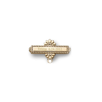 You Design it!  We Create It!® Custom Baptismal Pin - 14K Yellow Gold-Filled - Baby Christening Pin