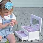 Amelia Chloe - Girl's Large White Jewelry Box - Personalize this item - BEST SELLER