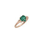 Little Girl's Heart Birthstone Ring - May Birthstone - Synthetic Emerald - 10K Yellow Gold - Size 4½ Child Ring - BEST SELLER