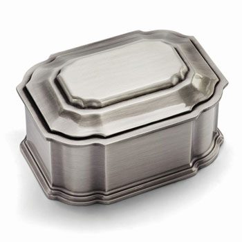 Harper Lily - Large Engravable Pewter-Tone Finish Jewelry Box