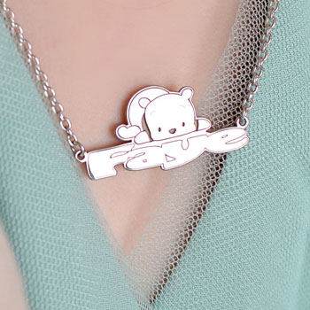 "Disney Winnie the Pooh Sterling Silver Rhodium Name Necklace - Double Gauge Nameplate and 1.50mm 14"" rolo chain included - Choice of additional chain lengths available - BEST SELLER"
