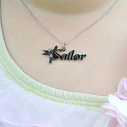 Disney Tinker Bell Sterling Silver Rhodium Name Necklace - Double Gauge Nameplate Only - Chain not included - BEST SELLER/