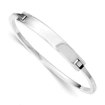 "Blessed Classics - Premium Weight High-Polished Sterling Silver - Engravable on front - Size 7.5"" (11 years - Med Adult) - BEST SELLER"
