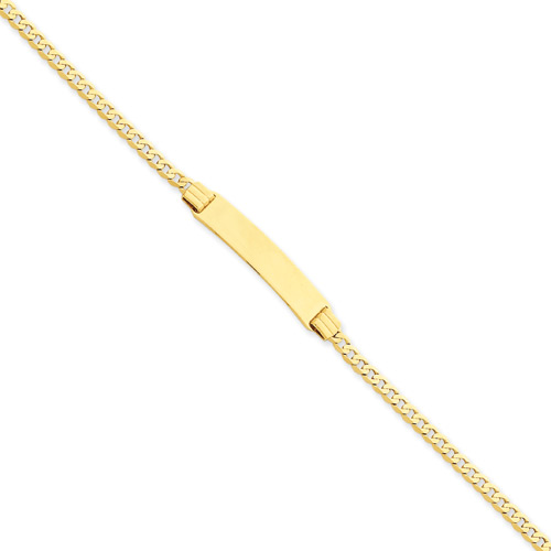 "Personalized with Love - Solid 14K Yellow Gold Engravable Kids ID Bracelet for Girls or Boys - Size 6"" (SM Child - 13 years) - BEST SELLER"