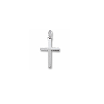 Rembrandt Sterling Silver Large Cross Charm – Add to a bracelet or necklace