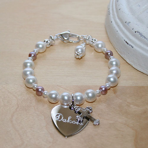 Beautiful Girl™ by My First Pearls® – Grow-With-Me® designer original freshwater cultured pearl bracelet – Personalize with gemstones & charms