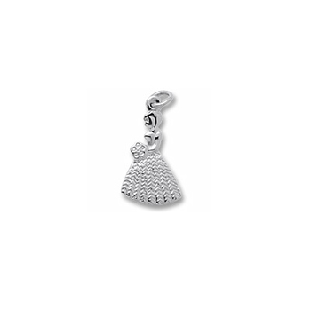 Rembrandt Sterling Silver Bridesmaid Charm – Engravable on back - Add to a bracelet or necklace - BEST SELLER