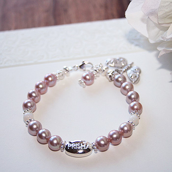 Signature Victorian Elegance™ by My First Pearls® – Grow-With-Me® designer original freshwater cultured pearl bracelet – Personalize with gemstones & charms