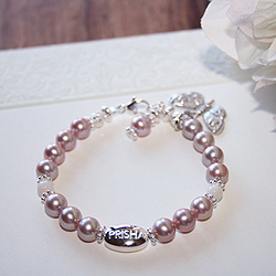 Signature Victorian Elegance™ by My First Pearls® – Grow-With-Me® designer original freshwater cultured pearl bracelet – Personalize with gemstones & charms/