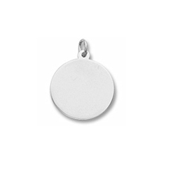 Rembrandt Sterling Silver Large Round Charm (35 Series) – Engravable on front and back - Add to a bracelet or necklace - BEST SELLER/