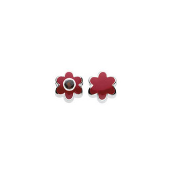 January Garnet Birthstone Charm Bead - High-Polished Sterling Silver Rhodium - Add to a bracelet or necklace