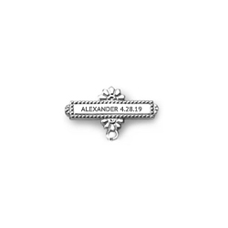You Design it!  We Create It!® Custom Baptismal Pin - Sterling Silver Rhodium - Baby Christening Pin/