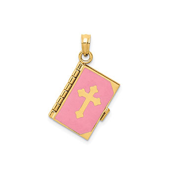 Beautiful Lord's Prayer Pendant - 14K Yellow Gold - Chain included - BEST SELLER