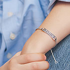 Boy's Jewelry Favorite - Adjustable Boys Personalized Silver Bracelet - Engravable on front and back - Size 6