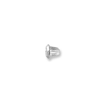 Sterling Silver Rhodium Screw Backing (One Back) - Screw back fits all BeadifulBABY safety threaded screw back posts - One Screw Back